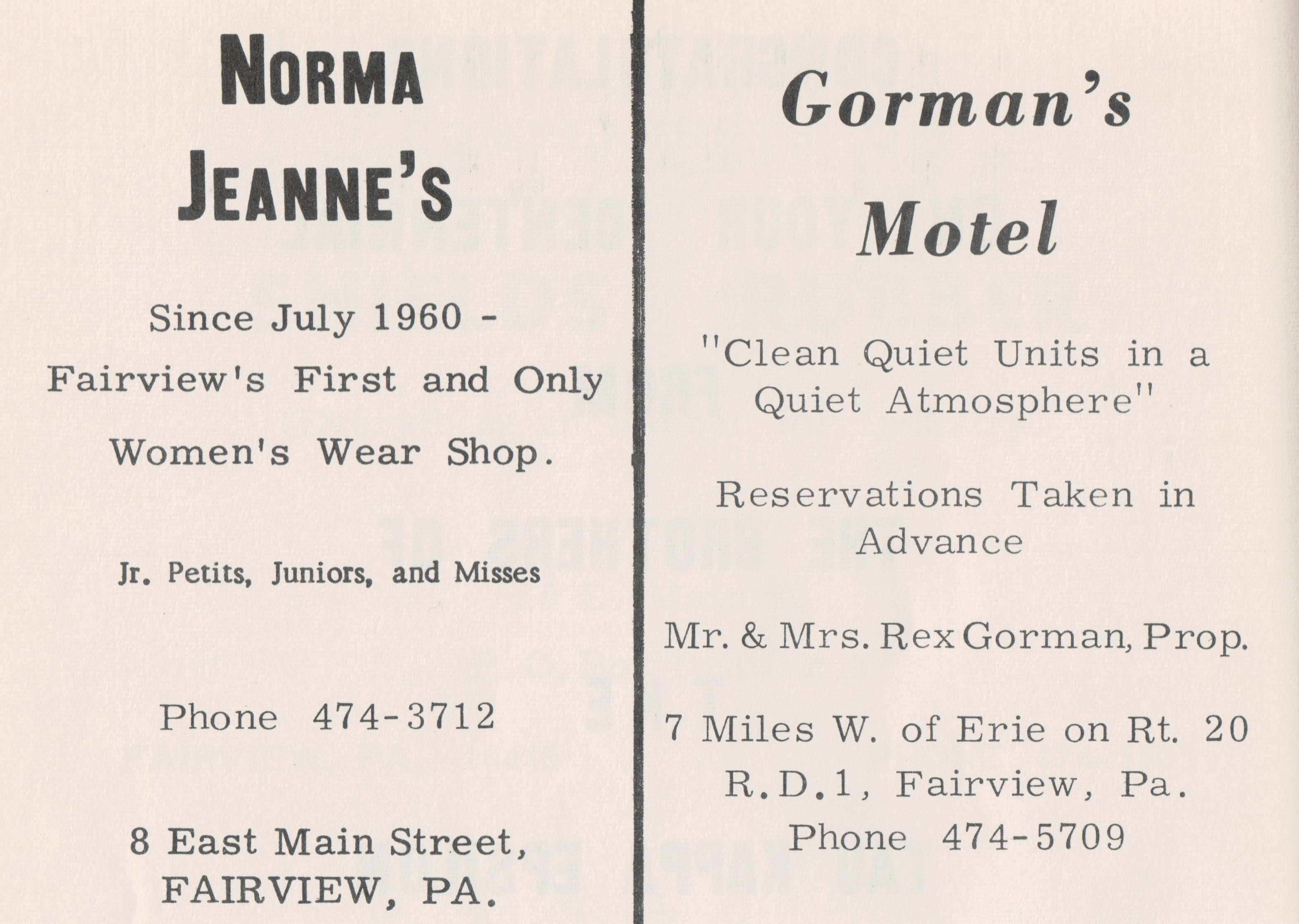 Norma Jeans & Gormans