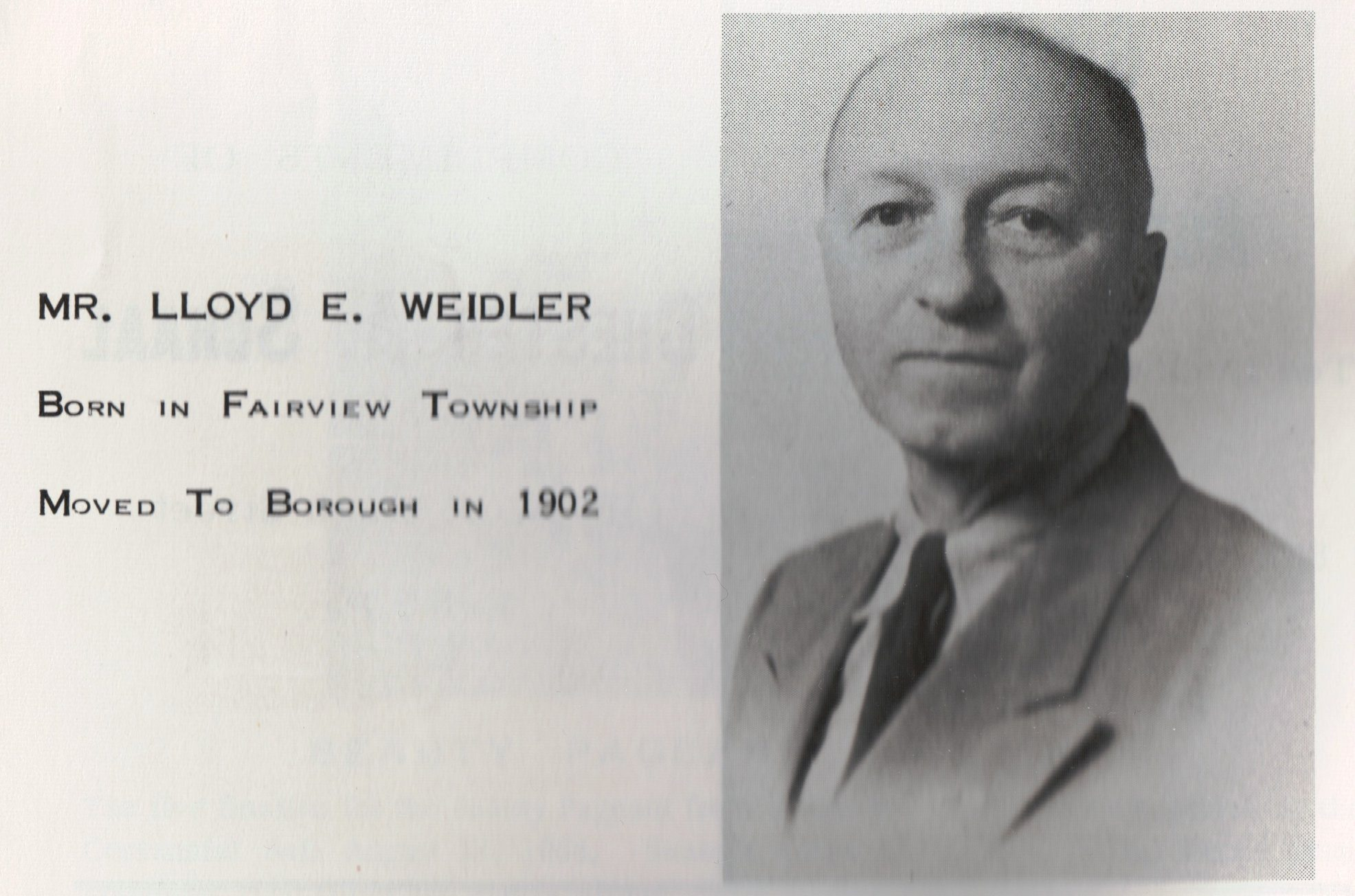 Mr. Lloyd E. Weidler