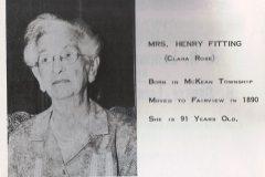 Mrs. Henry (Clara Rose) Fitting